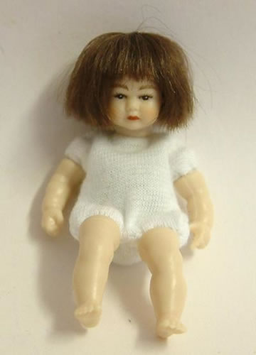 Heidi Ott Dolls House Doll, Toddler with Brown Eyes/Dark Hair (XKB12)