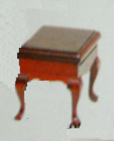 Dolls House Miniature Mahogany Storage Seat (XY209M)