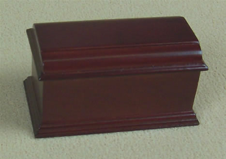 Dolls House Miniature Sewing Machine Cover (Mahogany) (XY210M)