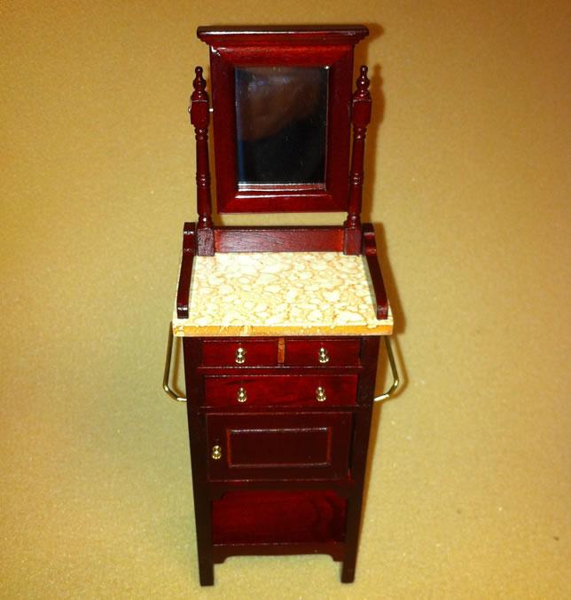 Dolls House Miniature Mahogany Shaving Table (XY560M)