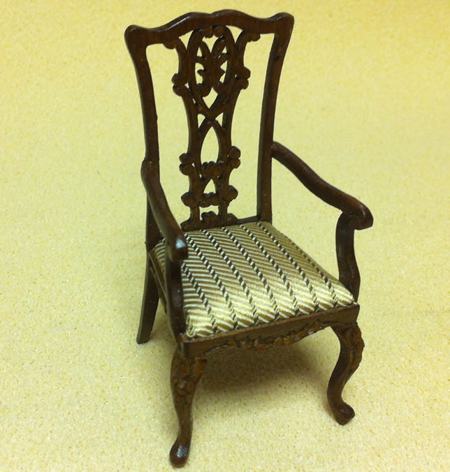 Dolls House Chippendale Arm Chair (XY727)