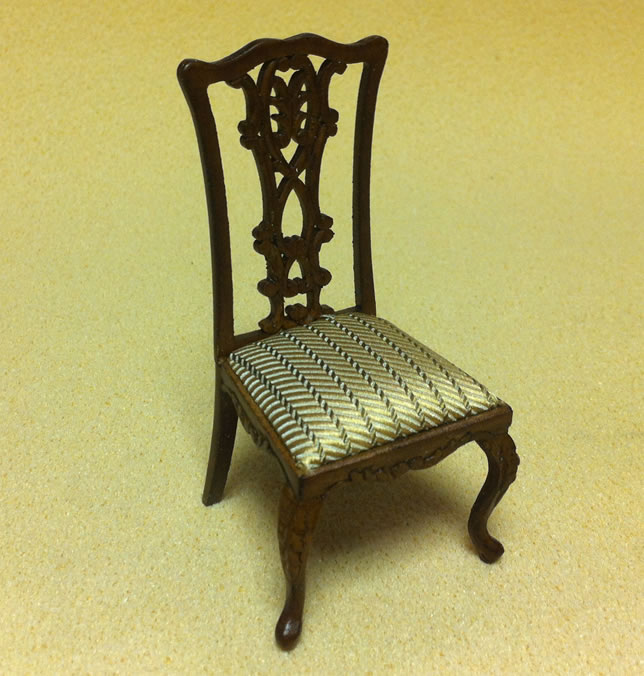 Dolls House Chippendale Side Chair (XY728)