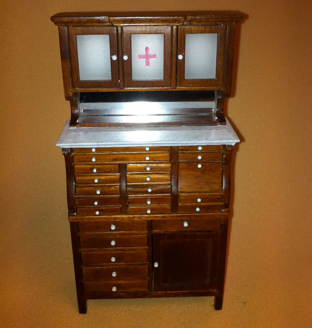 Heidi Ott Dentist Cabinet with a walnut finish (XY764)