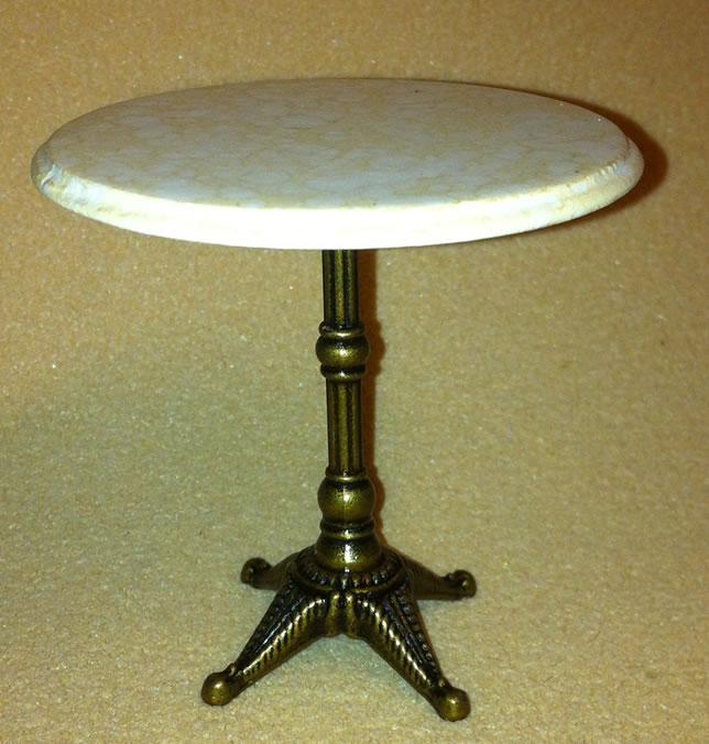 Dolls House Round Bistro Table (Beige) (XY782B)
