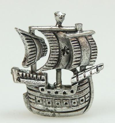 Dolls House Miniature Pewter Ship (XZ251)