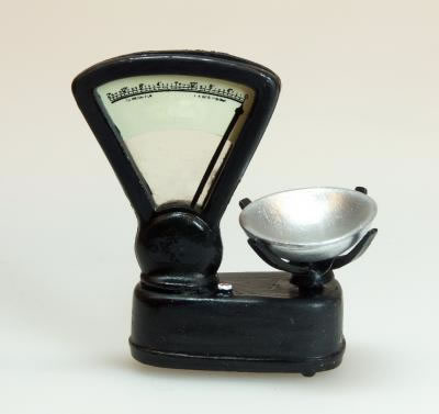 Black Shop Scales, Dolls House Miniature (XZ266)