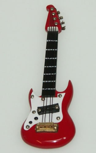 Dolls House Miniature Electric Guitar (XZ310)
