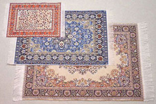 Dolls House Miniature Set of 5 Large Carpets (XZ353)
