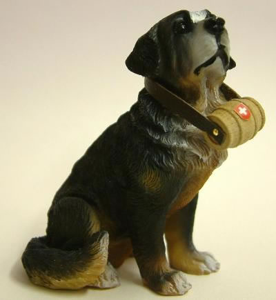 Dolls House Miniature Black St. Bernard (XZ509)