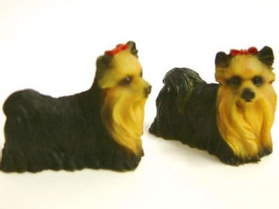 Dolls House Yorkshire Terrier (x2) (XZ517)