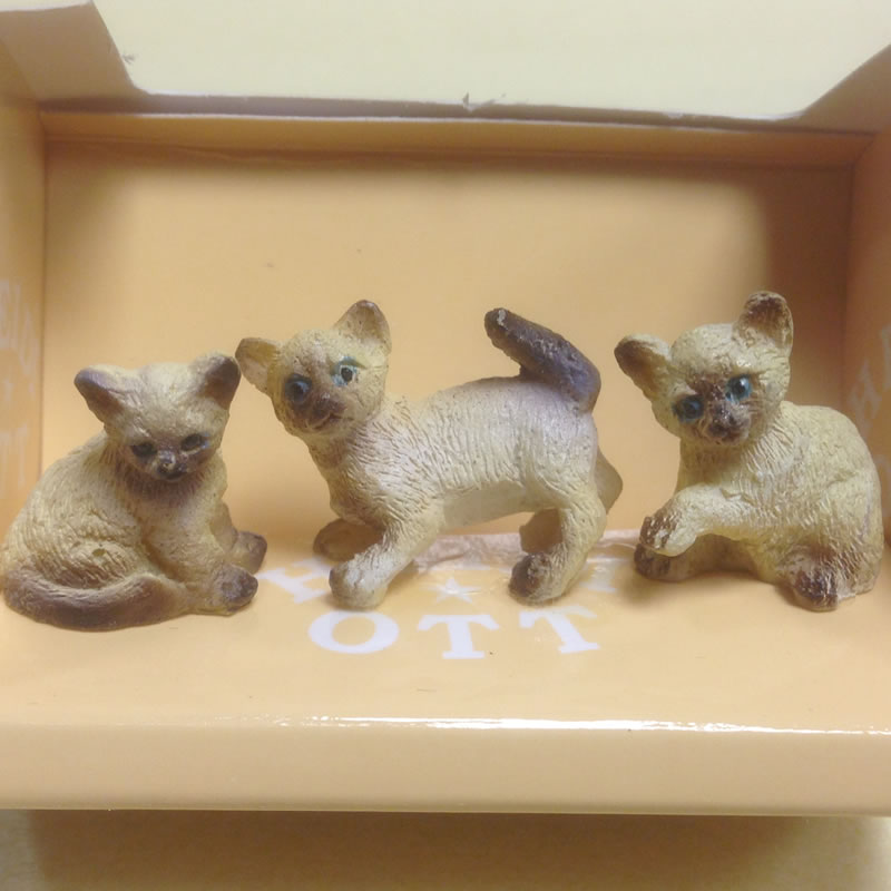 Dolls House Miniature Kittens x3 (XZ570)