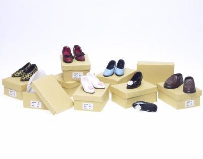 5 Pairs of Ladies Dolls Shoes, Dolls House Miniature (XZ751)