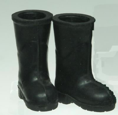 Pair of Black Boots, Dolls House Miniature (XZ763)