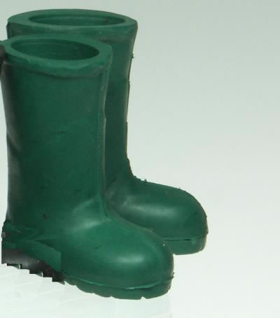 Pair of Green Boots, Dolls House Miniature (XZ764)