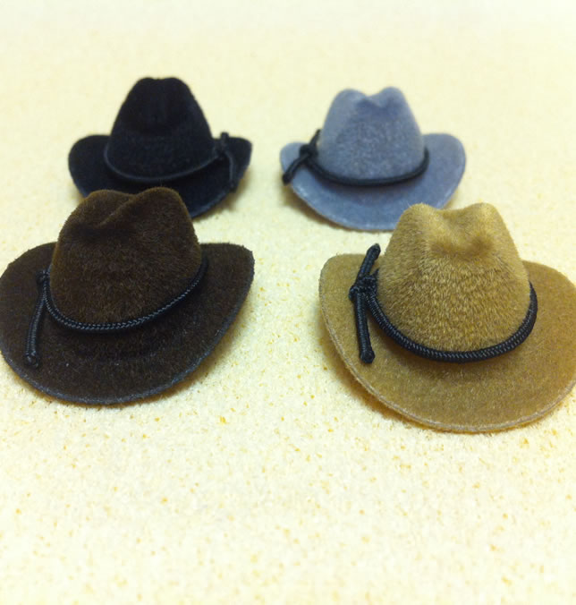 Set of 4 Dollhouse dolls Cowboy Hats (XZ782)