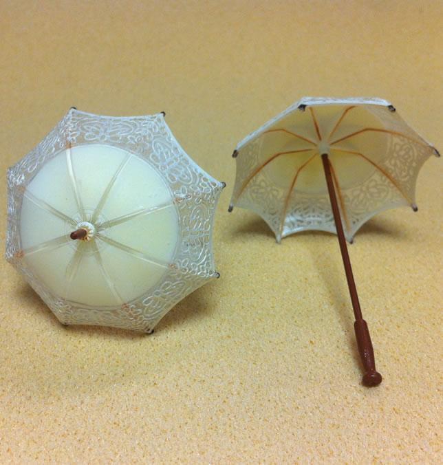 Set of 2 Dollhouse Dolls  Miniature Umbrellas (XZ789-W)