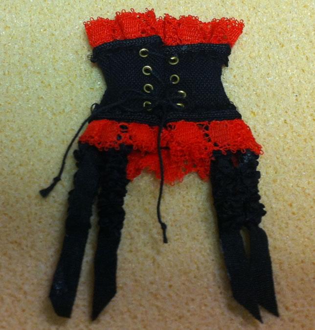 Corset- Red, Dolls House Miniature (XZ905-R)