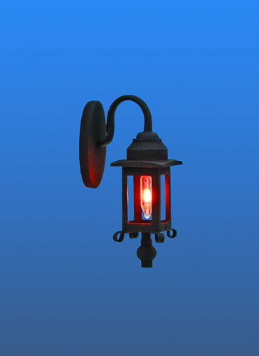 Dolls House Black Coach Lamp (YL2053)