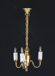 Dolls House Chandelier (3-Up-Arm Colonial) (YL6011)