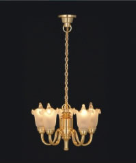 Dolls House Chandelier (5-Up-Arm Tulip Shade) (YL6023)