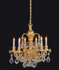 Dolls House Real Crystal Chandelier (6-Arm) (YL7001)