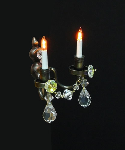 Dolls House Twin Real Crystal Wall Chandelier (Nostalgic) (YL7003-1)