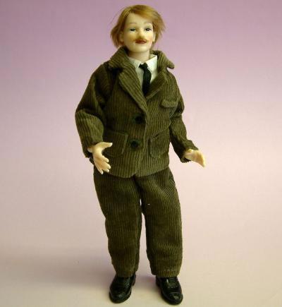Heidi Ott Dolls House Doll, Man in Brown Suit (X078)