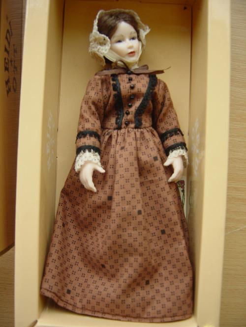 Heidi Ott Lady Doll in a Brown Dress (X099)