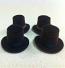 Set of 4 Dolls House dolls Brown Top Hats to fit Heidi Ott adults. (XZ781B)