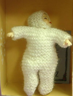 Heidi Ott Dolls House Doll, Baby in a White Snowsuit (Laying) (XB033)