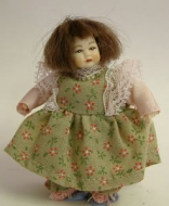 Heidi Ott Dolls House Doll, Toddler Girl in a Dress (XB502)