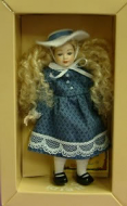 Heidi Ott Dolls House Doll, Young Girl in a Blue Dress (XC002)