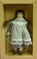 Heidi Ott Dolls House Doll, Young Girl with Plaits (XC003)