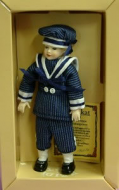 Heidi Ott Dolls House Doll, Young Boy in a Blue Outfit (XC004)