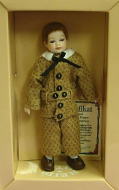 Heidi Ott Dolls House Doll, Young Boy in a Brown Outfit (XC006)