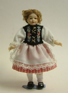 Heidi Ott Dolls House Doll, Young Girl in Swiss Dress (XC009)