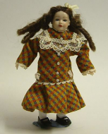 Heidi Ott Dolls House Doll, Young Girl in Multi Coloured Dress. (XC014)