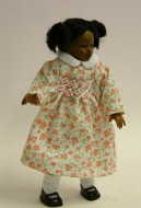 Heidi Ott Dolls House Doll, Young Brown Girl in Pink (XC016)