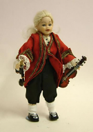 Heidi Ott Dolls House Doll, Young Child with a Violin (XC018)