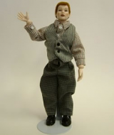 Heidi Ott Dolls House Doll, Man in Shirt and Waistcoat (X030)