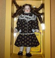 Heidi Ott Dolls House Doll, Girl in a Black Dress (XC035)