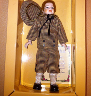 Heidi Ott Child Doll Boy in a brown outfit (XC038)