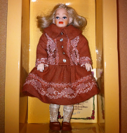 Heidi Ott Child Doll Girl in a red dress (XC041)