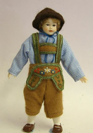 Heidi Ott Dolls House Doll, Teenage Boy in Swiss Clothes (XC501)