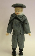 Heidi Ott Dolls House Doll, Teenage Boy in a Blue Outfit (XC504)