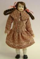 Heidi Ott Dolls House Doll, Teenager Girl with Plaits (XC505)