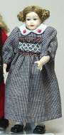 Heidi Ott Dolls House Doll, Teenage Girl in Check Dress (XC508)
