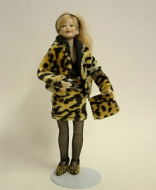 Heidi Ott Dolls House Doll, Lady Wearing Leopard Skin (X032)