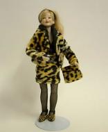 Heidi Ott Dolls House Doll, Lady Wearing Leopard Skin (X032)