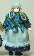 Heidi Ott Dolls House Doll, Teenage Girl in Blue Shawl (XC511)